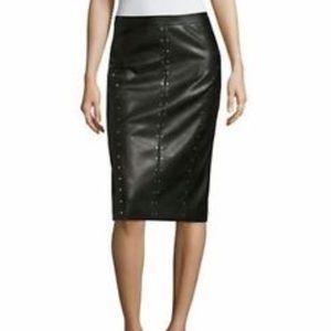 Worthington black faux leather studded pencil 16